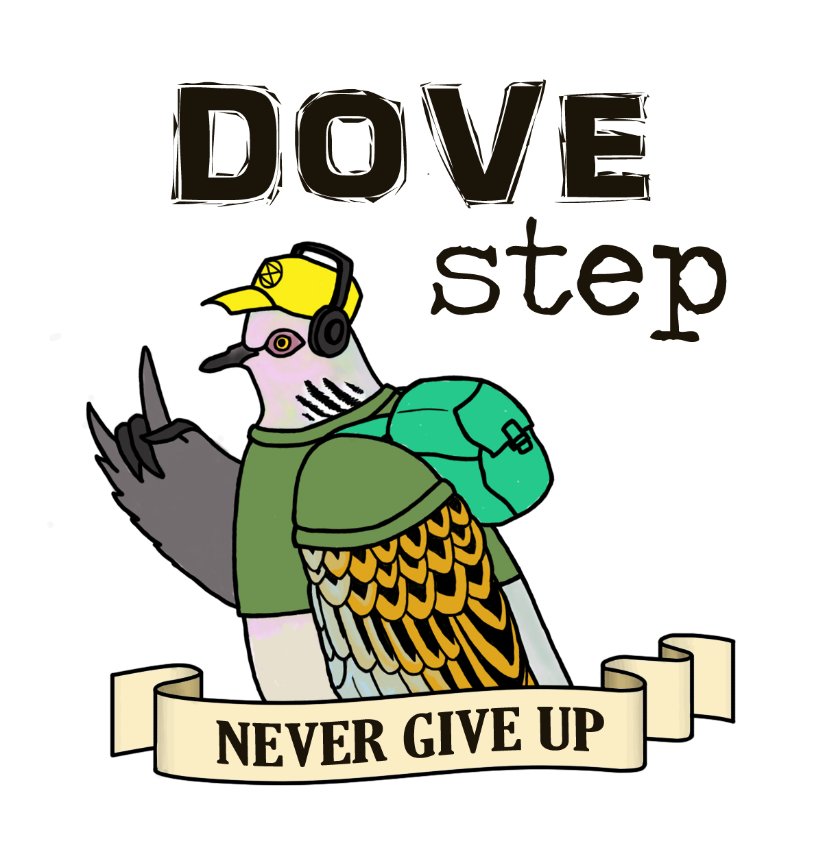 Dove Step Never give up logo